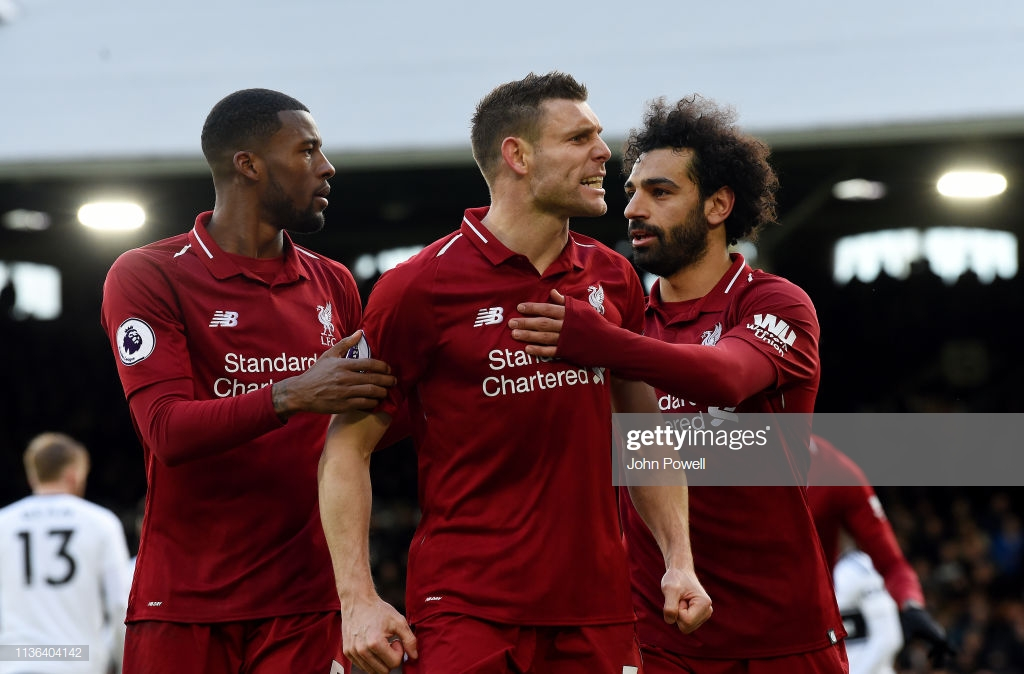 Fulham 1-2 Liverpool: Milner's penalty sinks Cottagers to move Reds back to the league summit