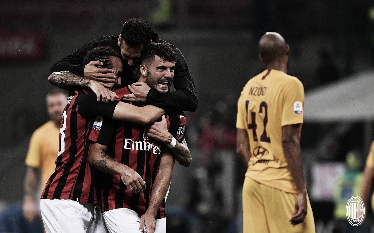 Cutrone marca nos acréscimos, Milan bate Roma e consegue primeira vitória na Serie A