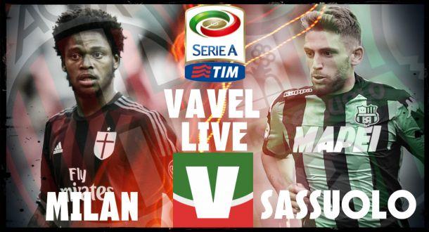 Risultato finale Milan - Sassuolo (2-1): i rossoneri tornano alla vittoria