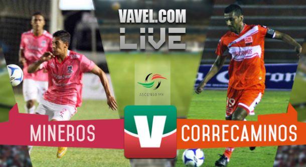 Resultado Mineros - Correcaminos en Ascenso MX 2015 (2-1)