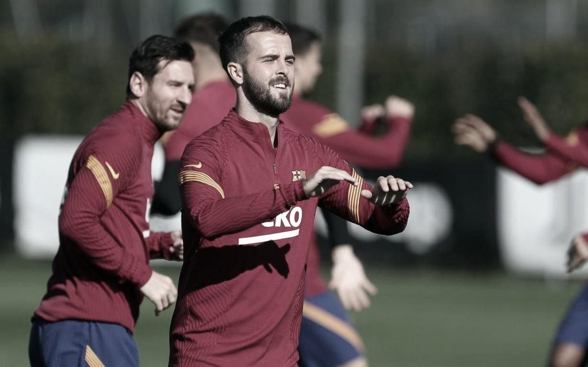 Miralem Pjanić en un entrenamiento durante la presente temporada | Foto del Fútbol Club Barcelona