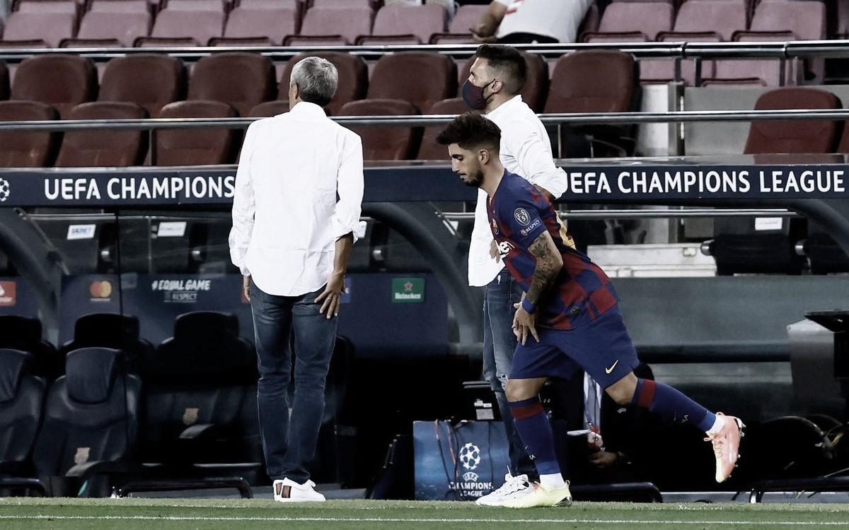 El debut oficial de Monchu con el Barça