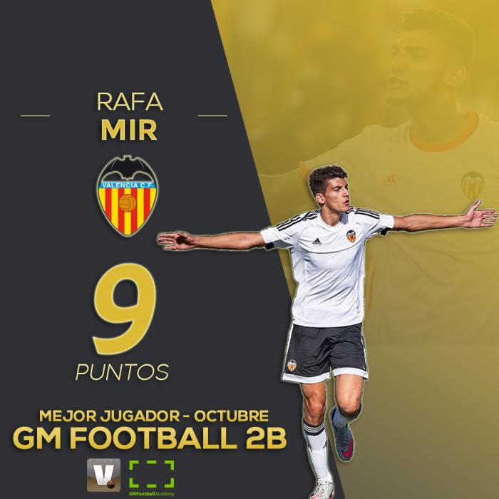 Rafa Mir, jugador del mes de octubre para GM Football 2B