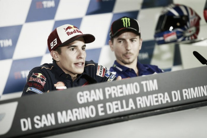 MotoGP: Pre Misano Race Press conference interviews with Marquez, Lorenzo and Dovizioso