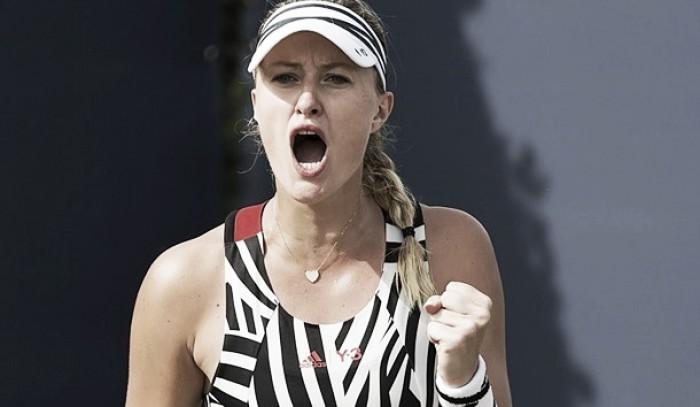 WTA s-Hertogenbosch: Kristina Mladenovic wins battle of the friends against Belinda Bencic