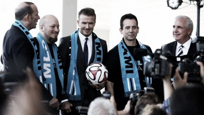 David Beckham launches Miami Major League Soccer team