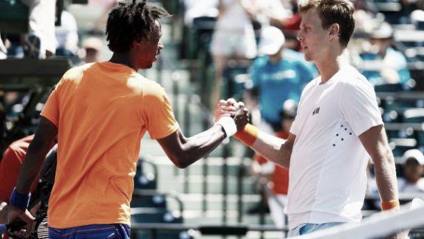 ATP Miami: la Francia cede, fuori Monfils (ritiro) e Mannarino, ai quarti Berdych e Thiem
