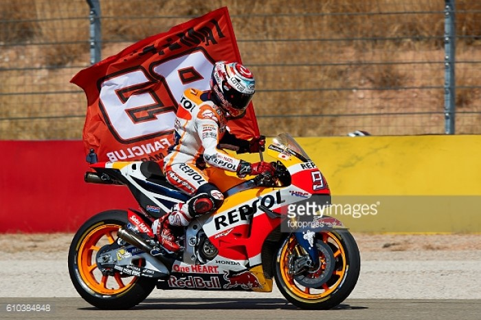 Marquez takes momentous podium on home turf in Aragon