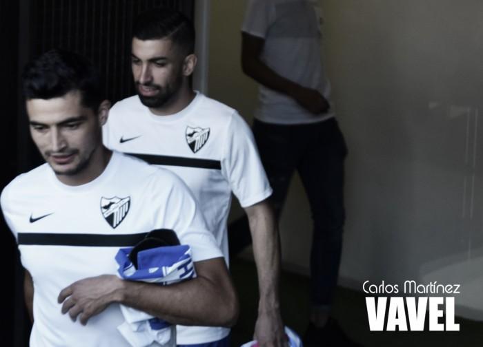 Michael Santos debuta con el Málaga CF en la victoria ante el Leganés