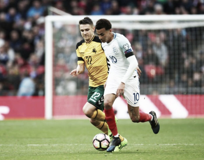 Com destinos selados, Lituânia e Inglaterra duelam pela última rodada das Eliminatórias