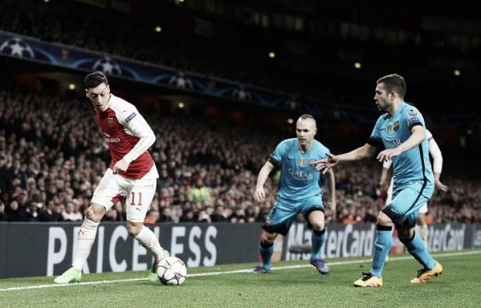 Neymar, Suárez and Messi on scoresheet as Arsenal knocked out despite valiant effort