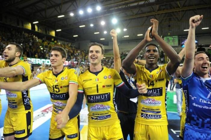 Volley M - L'Azimut Modena si aggiudica la Supercoppa italiana. La Sir Safety Perugia resta a bocca asciutta