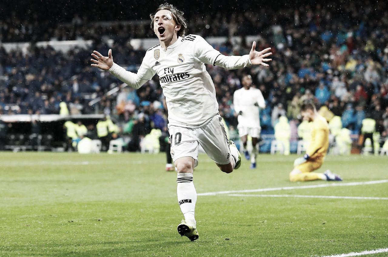 Modric lidera la mejor versión del Madrid de Solari