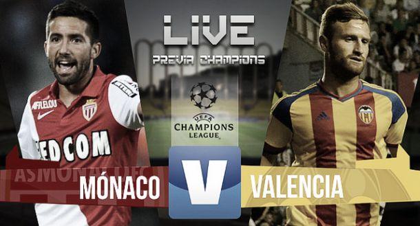 Resultado Mónaco vs Valencia en la previa de Champions League 2015 (2-1)