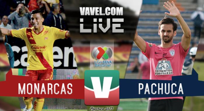 Resultado y goles del Monarcas Morelia 1-2 Pachuca de la Liga MX 2017