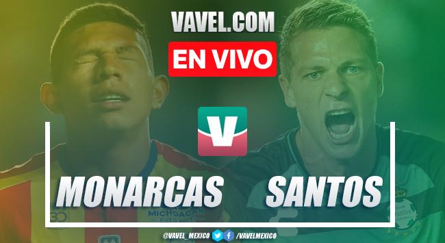 Goles y resumen Morelia 2-2 Santos en Liga MX 2019
