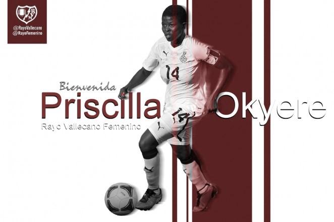 Priscilla Okyere, nuevo refuerzo rayista
