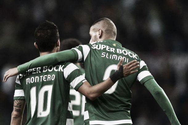 Sporting x (Slimani + Montero) = 3 valiosos pontos