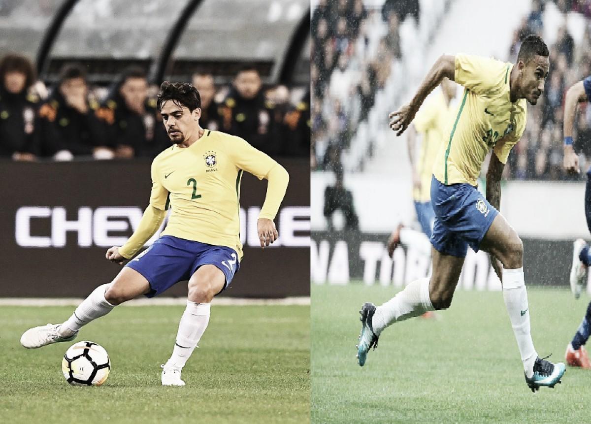 Os candidatos: como estão Fagner e Danilo, possíveis substitutos de Dani Alves na Copa