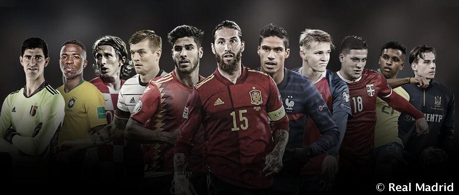 Los internacionales del Madrid