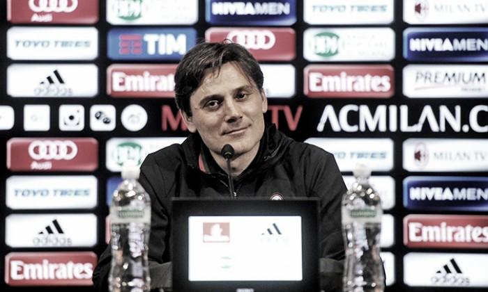 """Milan, Montella avverte: """"Pensiamo al Palermo, non al derby. Servirà pazienza"""""""