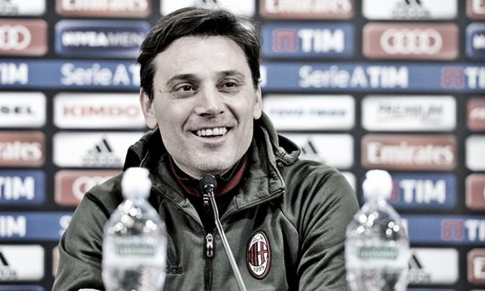 """Milan, Montella: """"La Samp è organizzata, noi non abbiamo perso le nostre convinzioni"""""""