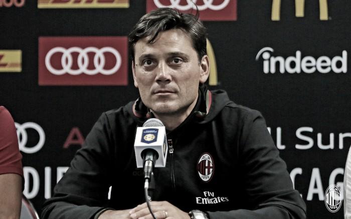 """Milan negli States, Montella in conferenza: """"Domani con il Bayern voglio vedere passi avanti"""""""