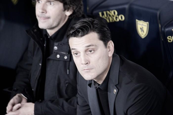 """""""Posso sentir o perfume da Europa"""", comemora Montella após nova vitória do Milan"""