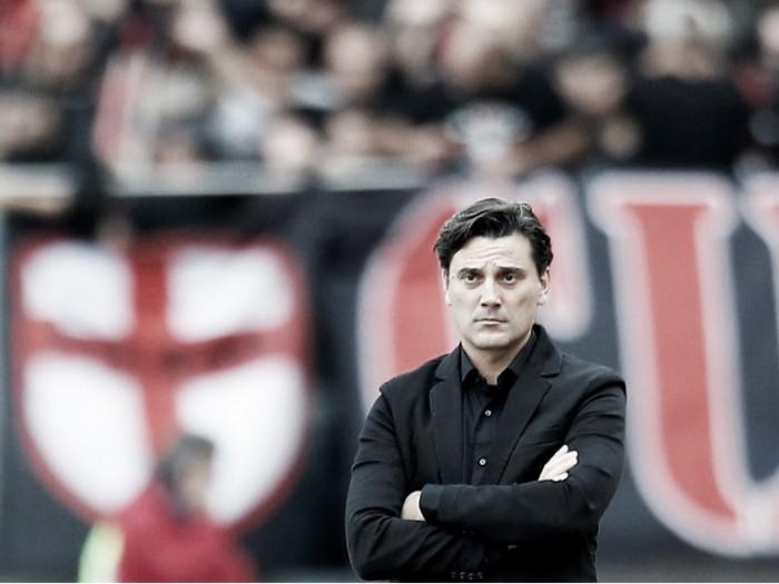 Montella quer Milan 'mais agressivo' e indica mudança tática para jogo da Europa League