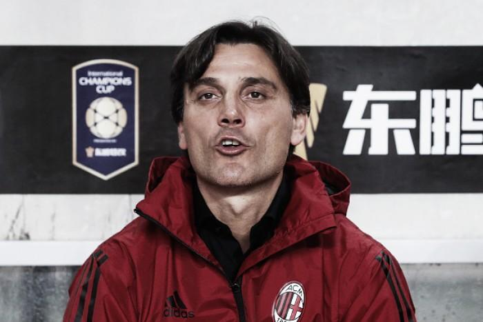 """Montella não define capitão do Milan, mas avisa: """"Bonucci é candidato, assim como Biglia"""""""