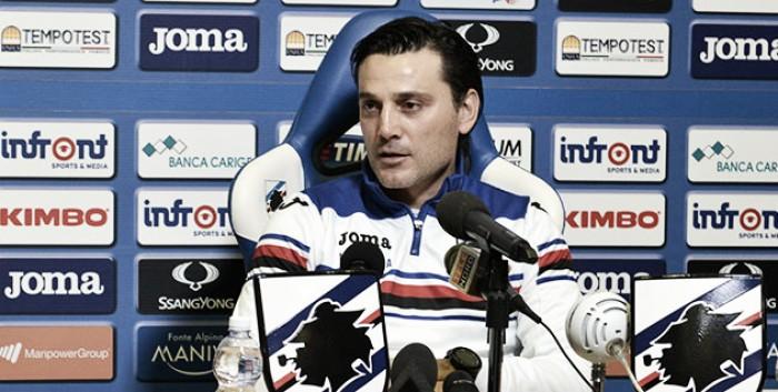 """Montella: """"Non dobbiamo sottovalutare il Verona. Contento di avere Quagliarella"""""""