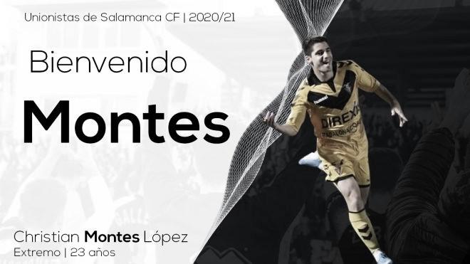 Christian Montes es nuevo jugador de Unionistas de Salamanca