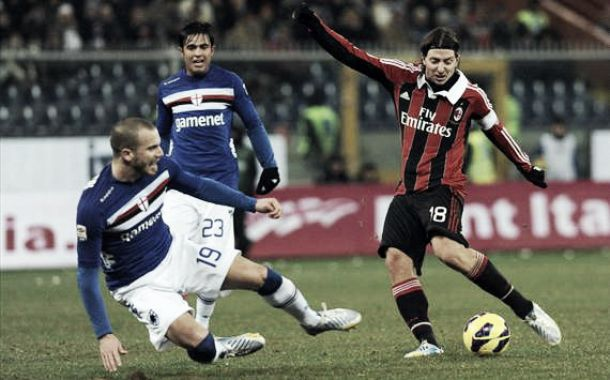Sampdoria - Milan: mismo partido, distinto objetivos
