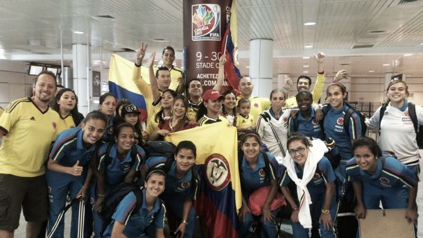 La Selección Colombia Femenina llegó a Montreal