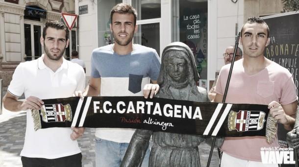 El FC Cartagena presenta a De Lerma, Carlos David y Antoñito