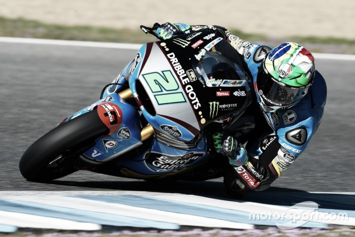Sad and abrupt end to day of Free Practice for Moto2 at Barcelona