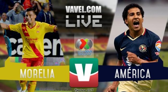 Resultado del partido Monarcas Morelia vs América en Liga MX 2017 (2-0)