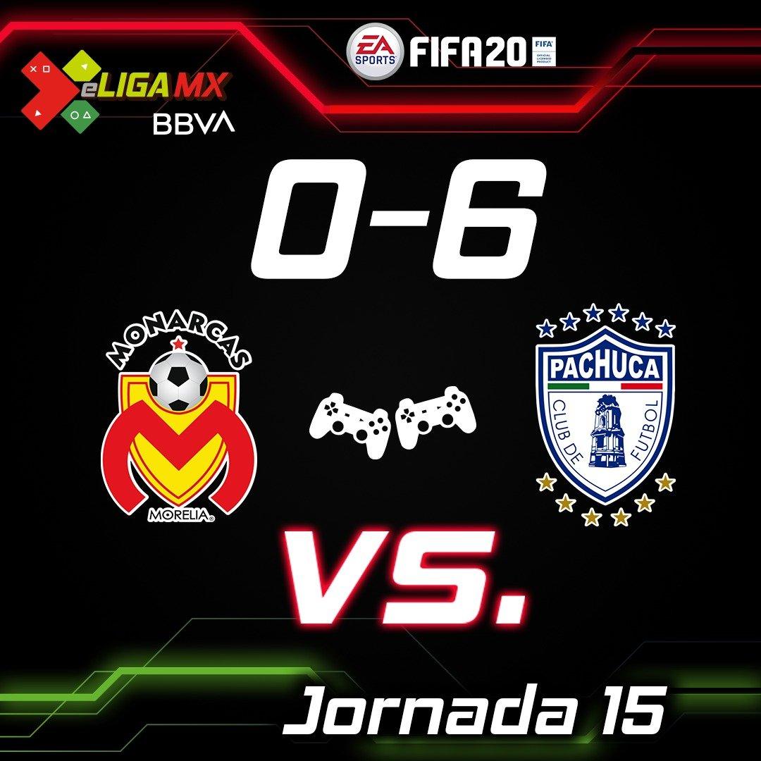 Pachuca golea a Morelia y toma el liderato de la eLiga MX