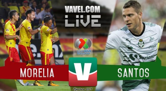 Resultado y goles del Morelia 1-1 Santos de la Liga MX 2017