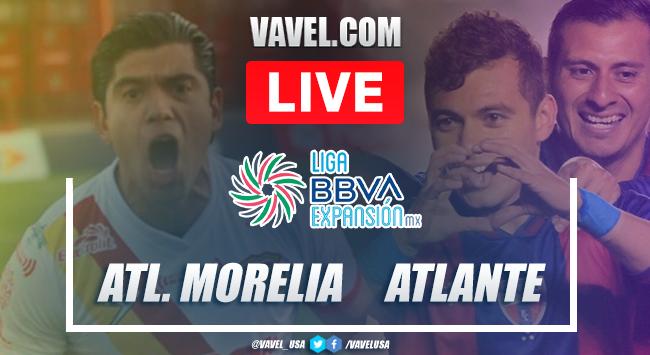 Goles y resumen del Atlético Morelia 1-1 Atlante en Liguilla Liga Expansión MX 2020