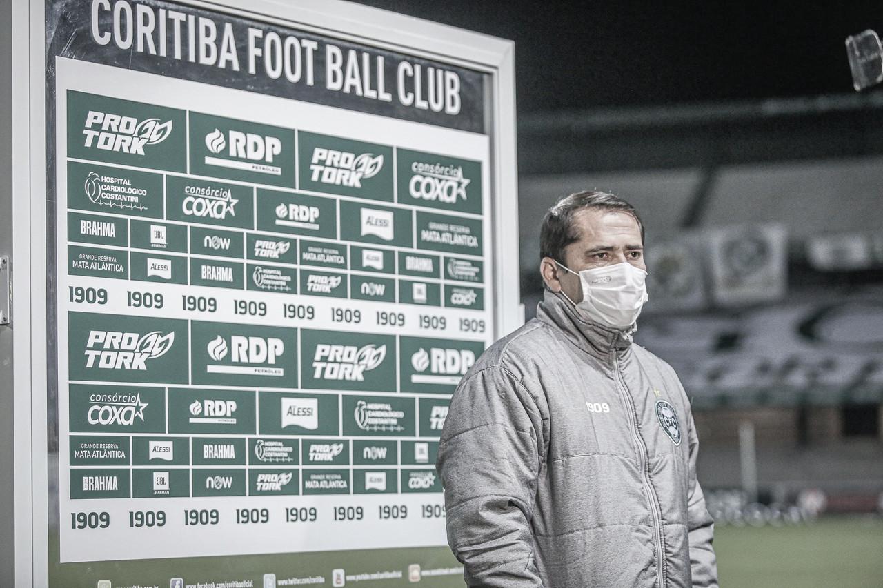 Apesar do empate, Morínigo aprova atuação do Coritiba contra o Vasco