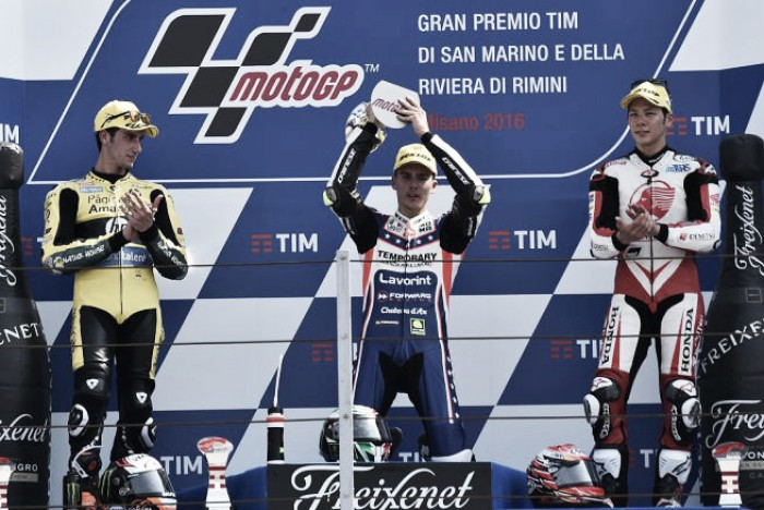 Baldassarri, Rins and Nakagami discuss their Moto2 success in San Marino