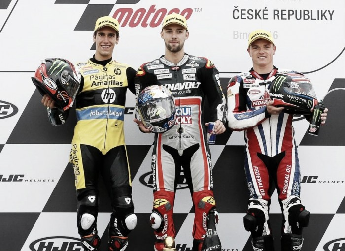 Moto2 Podium finishers discuss outcome at Brno
