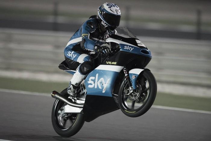 Fenati clinches pole position for the Moto3 season opener in Qatar