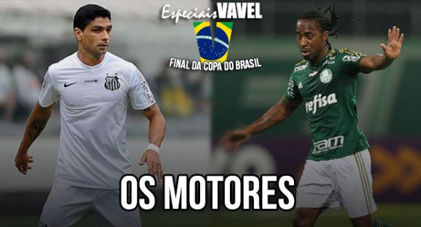 Renato e Arouca: os motores de Santos e Palmeiras na final da Copa do Brasil