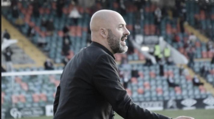 """David Movilla: """"Hemos estado muy imprecisos con balón, no sabiendo interpretar el partido en los aspectos ofensivos"""""""