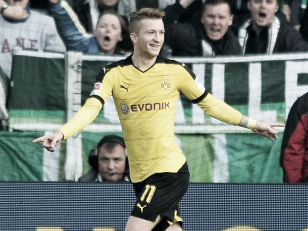 Werder Bremen 1-3 Borussia Dortmund: Reus at the double as BVB cut gap at the top to five points