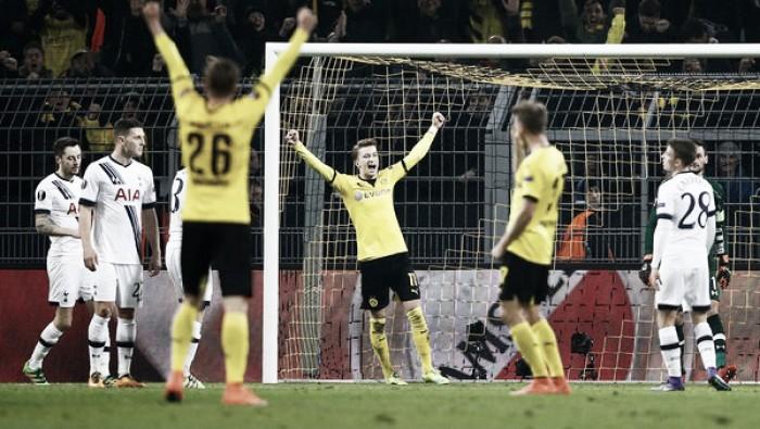 Borussia Dortmund 3-0 Tottenham Hotspur: Reus and Aubameyang help BVB blow away sorry Spurs