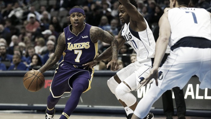 Isaiah Thomas debuta con los Lakers en la derrota frente a los Mavericks