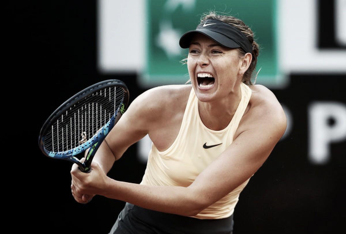 Sharapova hace de gladiadora en Roma y se mete en tercera ronda
